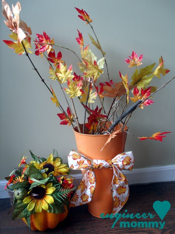 DIY Leaf Centerpiece for the Fall