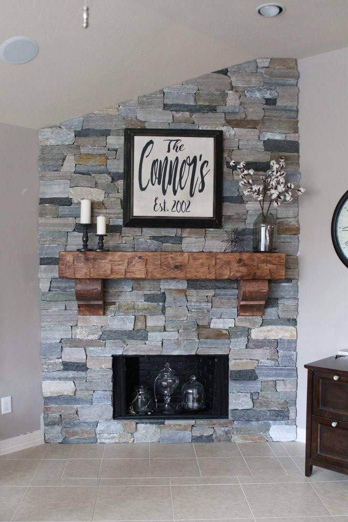 Custom Hand-Hewn Solid Pine Fireplace Mantel