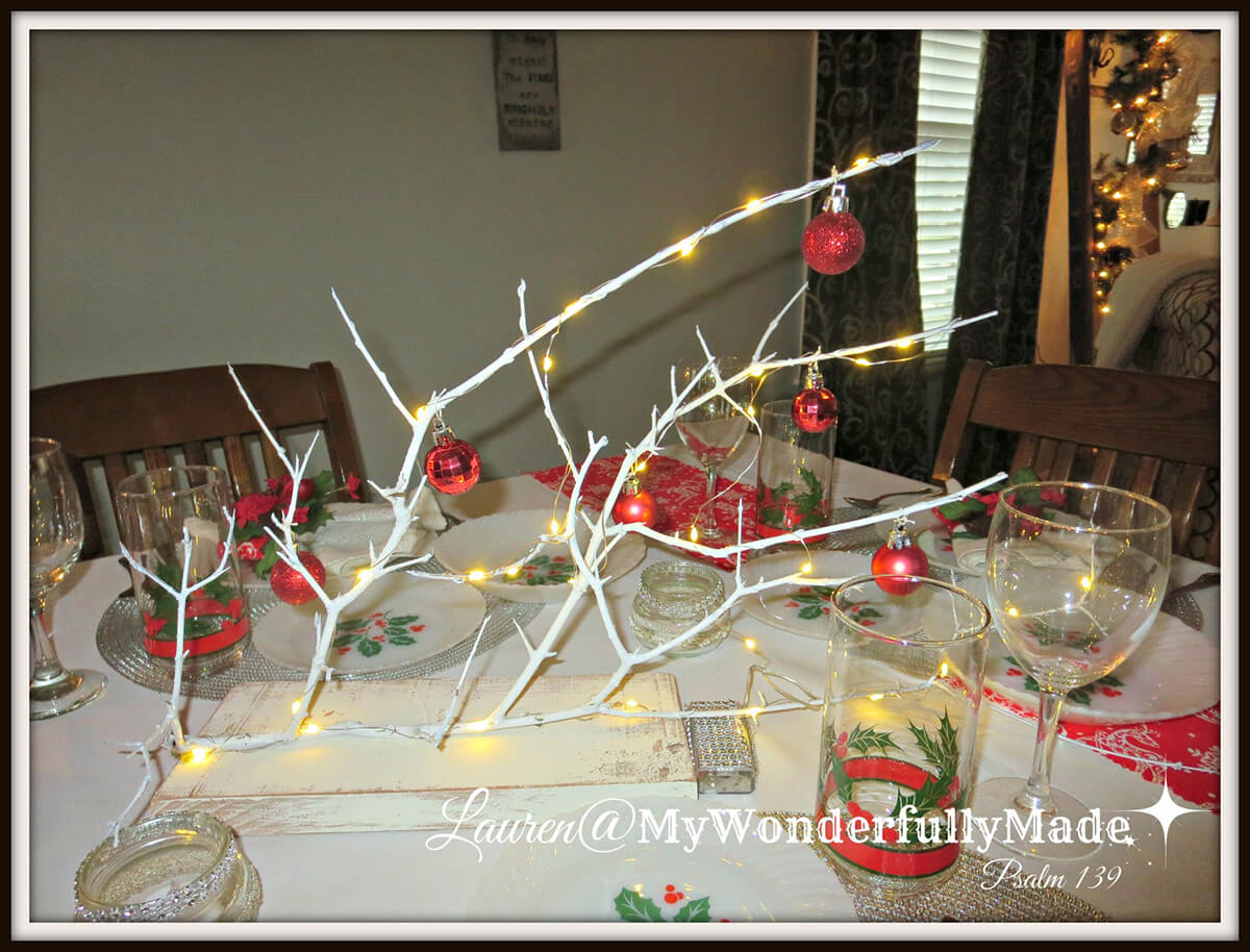 A Seasonal Branch Centerpiece with Lots of Life