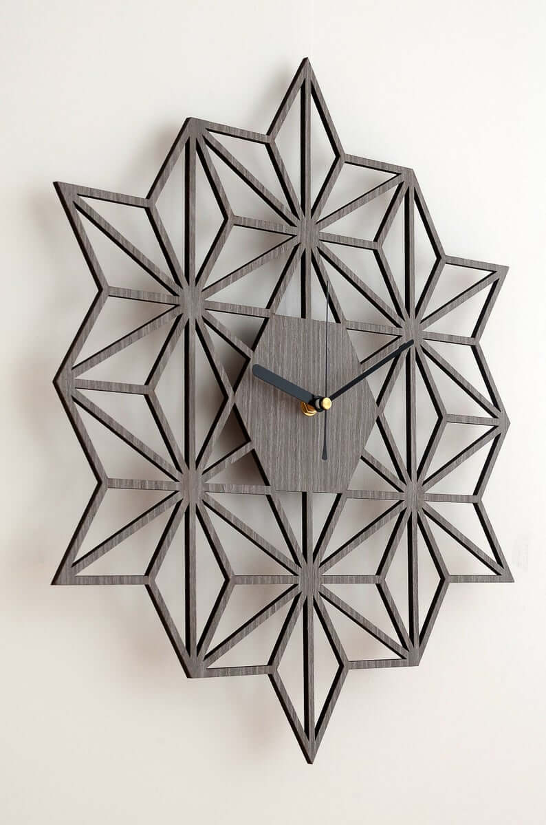 Poinsettia Prism 3-D Wall Clock