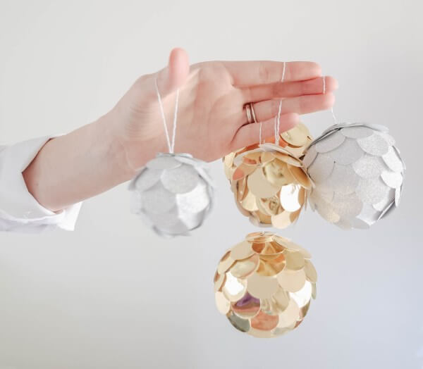Gold and Silver Scaly Baubles