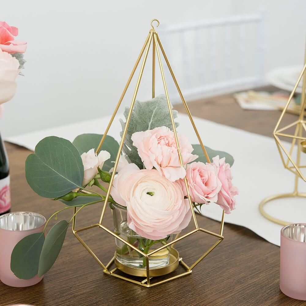 Metal Teardrop Geometric Centerpiece or Chandelier