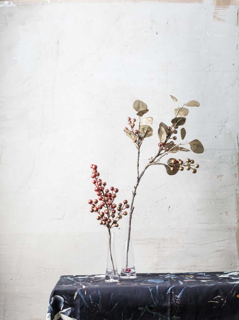 Handmade Artificial Gold Berry Branch Decoration