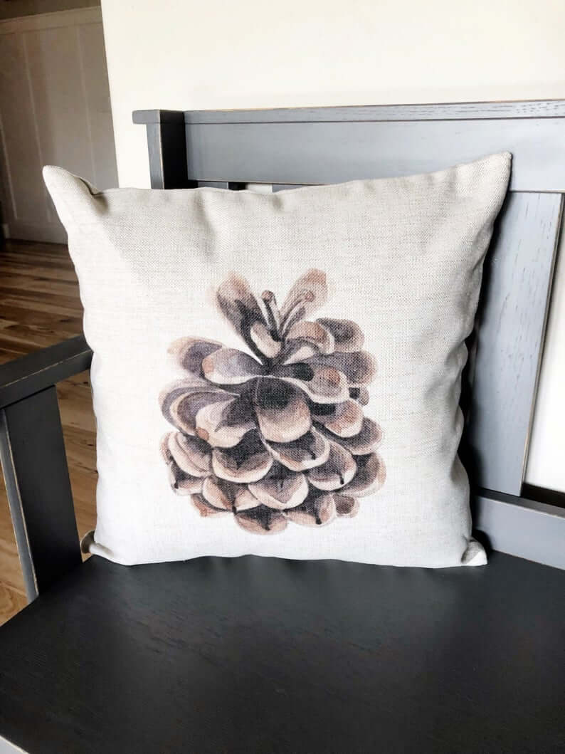 Rustic Pine Cone in the Wild Wilderness Throw Pillow