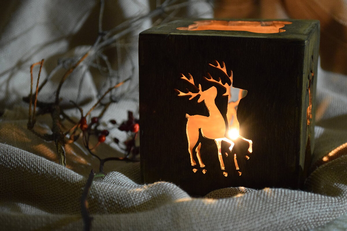 Creative and Unique Reindeer Candle Holder