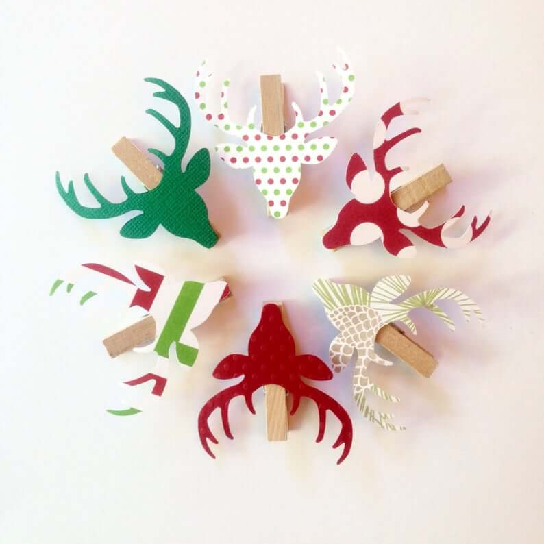 Colorful Reindeer Clothespins for a Fun and Festive Touch