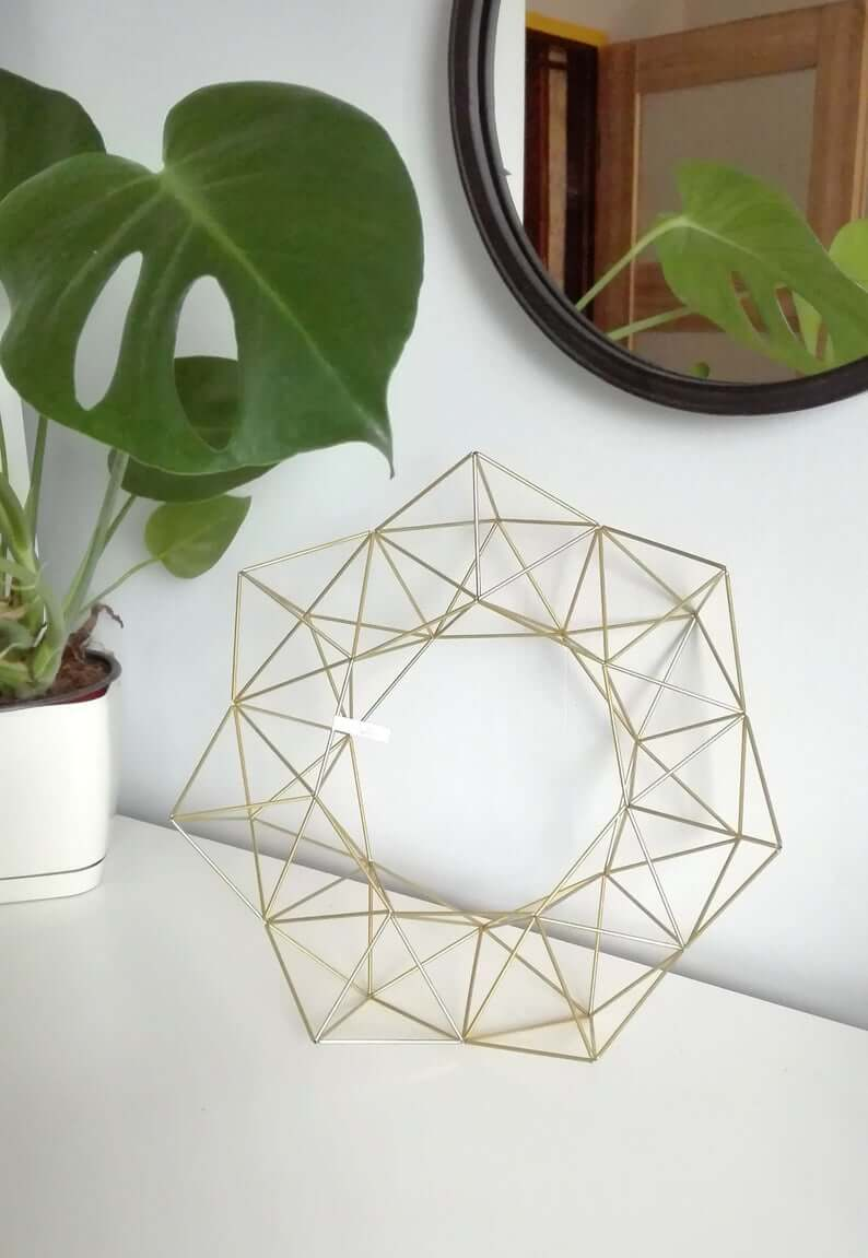 Tabletop Metal Prism Orb