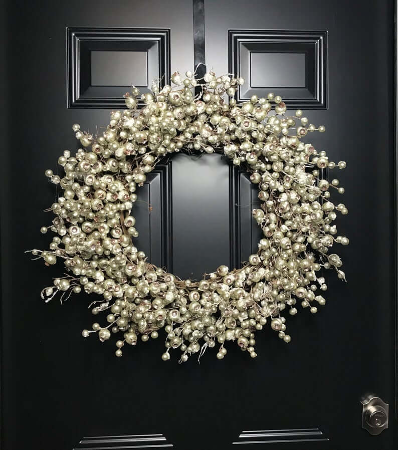 Faux Silver Christmas Berry Wreath