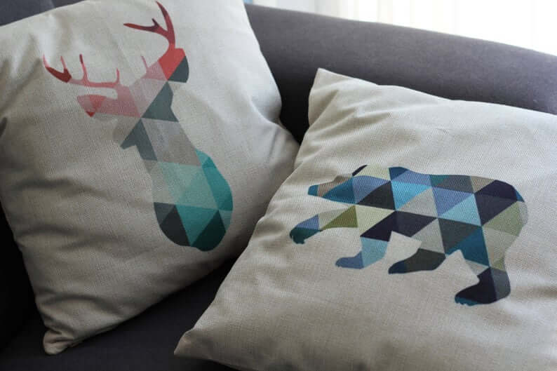 Abstract Triangle Multicolored Modern Animal Pillow Case