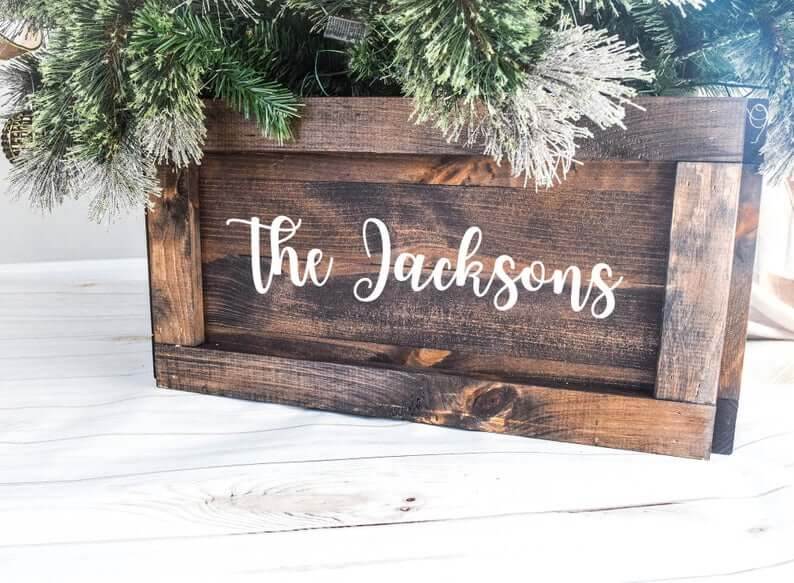 Collapsible Wood Crate Christmas Tree Stand