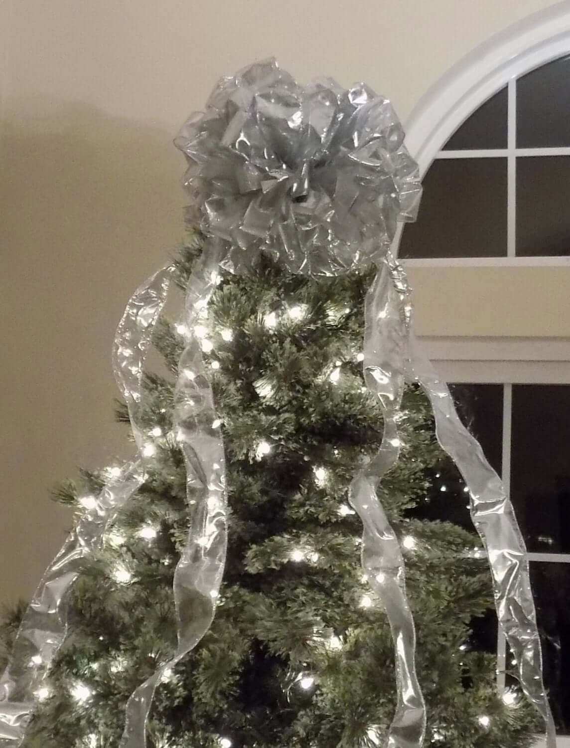 Extra Large Christmas Tree Bow Topper