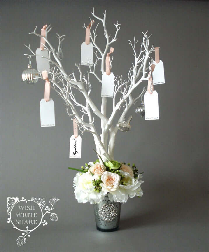 A Beautiful Wishing Tree with a Floral Arrangement