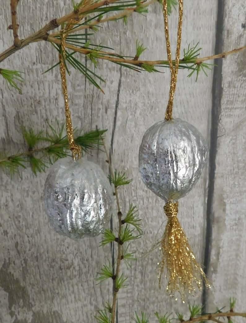 Metallic Crinkled Foil Ball Ornaments