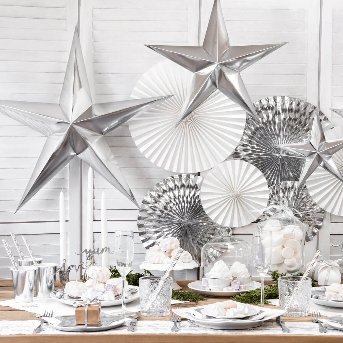 Pointed Silver Star Wall Hanging