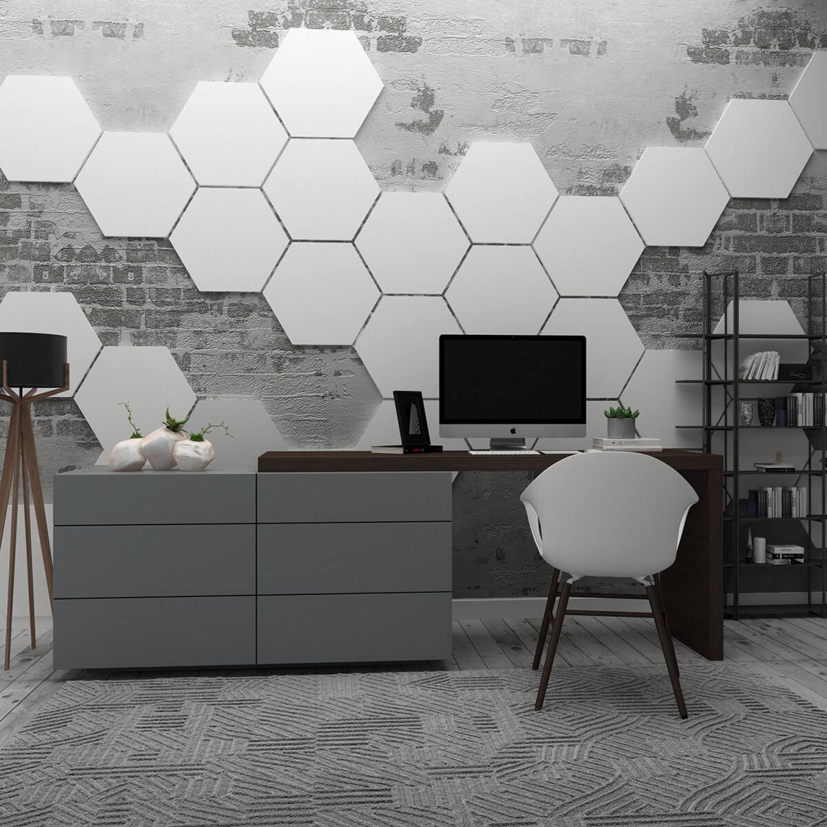 Modern Hexagon Honeycomb Wall Art