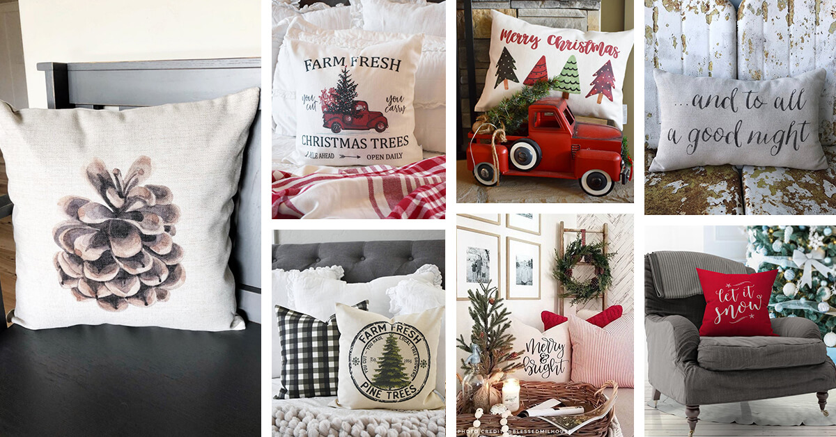 Admirable 29 Best Christmas Pillows To Find The Perfect Couch Inzonedesignstudio Interior Chair Design Inzonedesignstudiocom