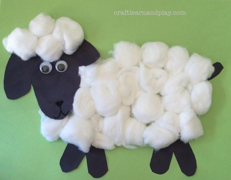 Super Cute Sheep Cotton Craft