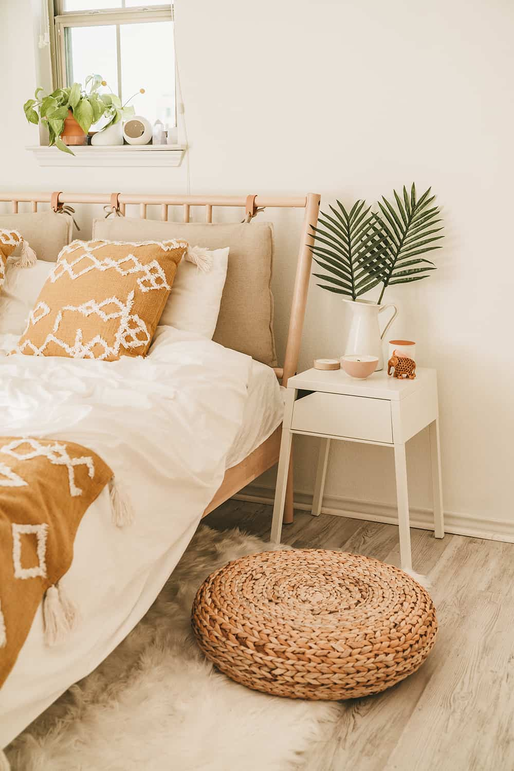 Textural Sand and Sunshine Bedroom Decor