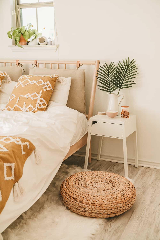 Textural Sand and Sunshine Bedroom Decor