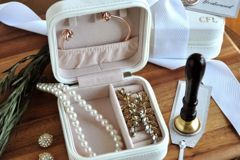 Monogrammed Travel Jewelry Case for On-the-Go