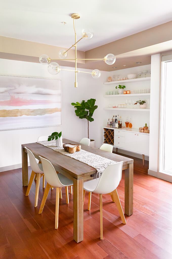 Sleek, Modern Dining Room with a Natural Twist