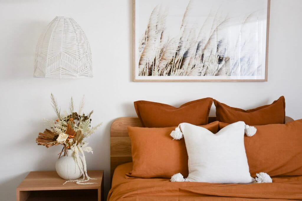 Cozy Bedroom in Warm Neutral Colors