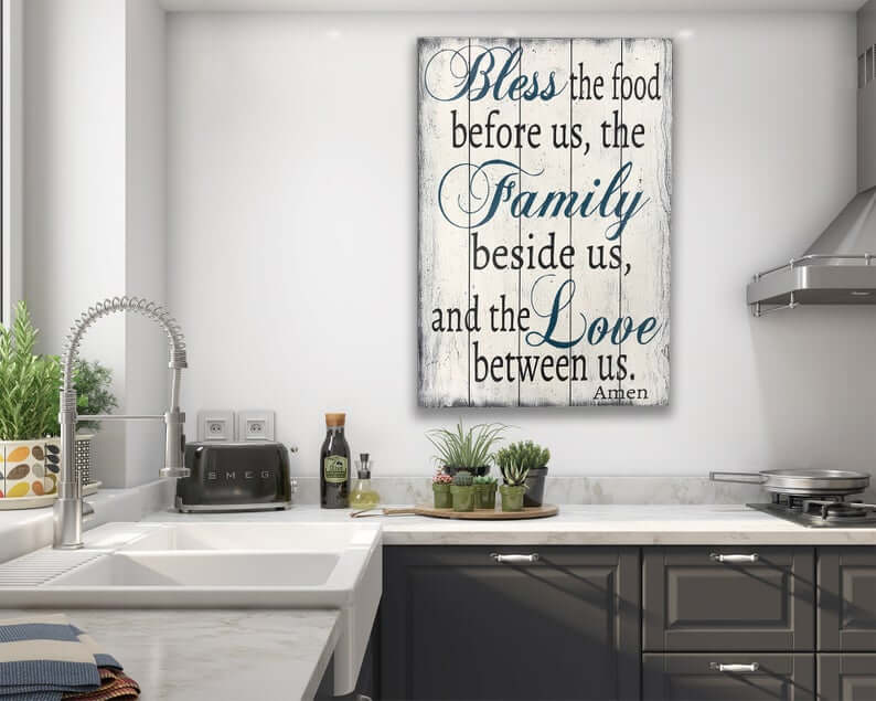 Rustic Kitchen Blessing Wall Decor