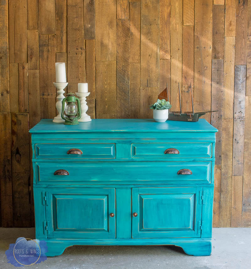A Turquoise, Distressed Buffet for a Southwest Style