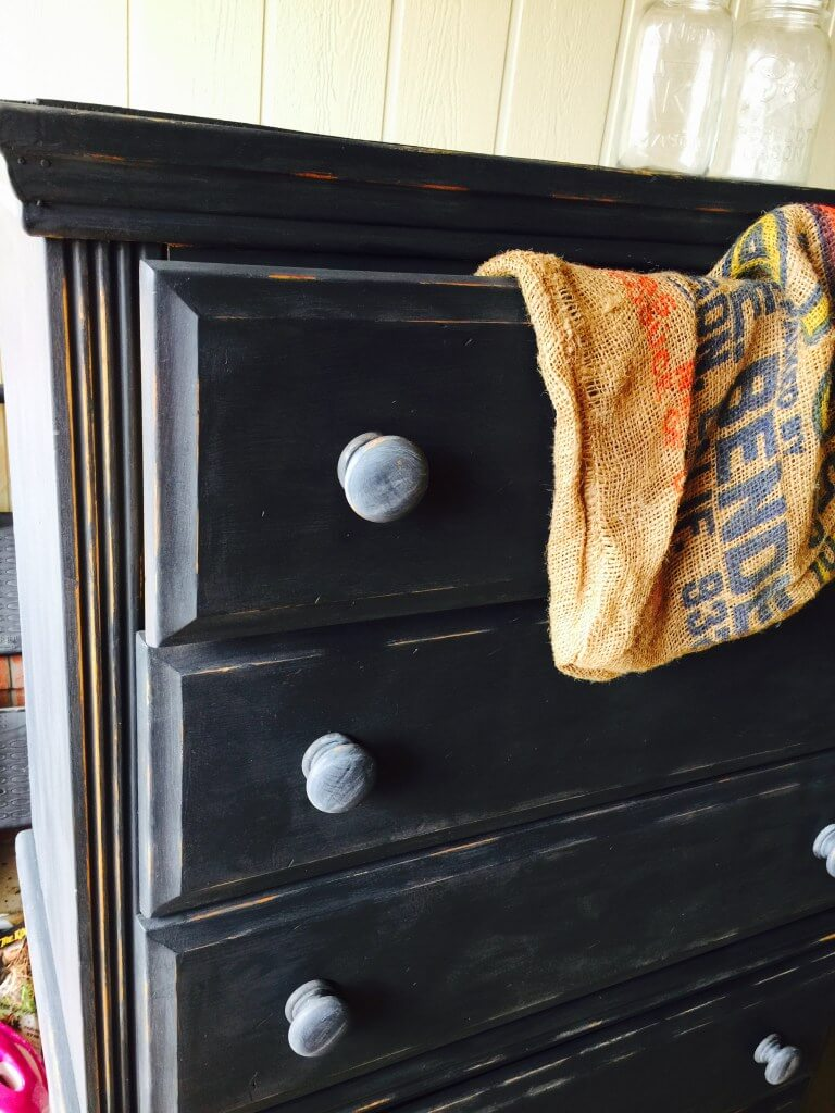 Antique Black Painted Dresser for a Modern Industrial Touch