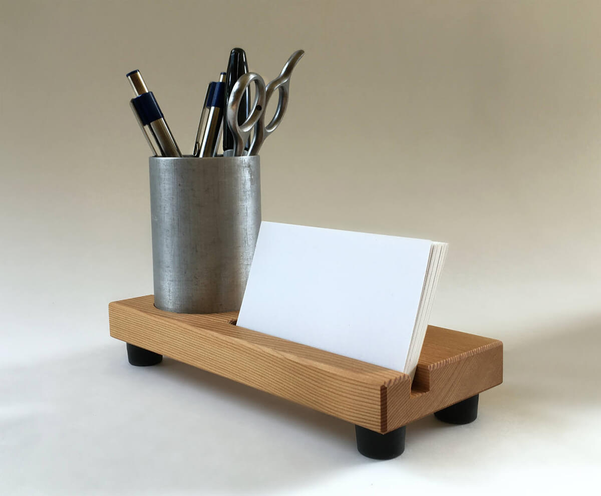 Practical Pencil Cup Business Card Holder