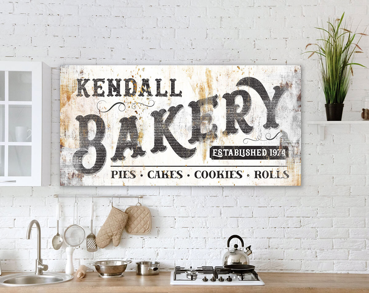 Personalized Bakery Sign With Custom Year