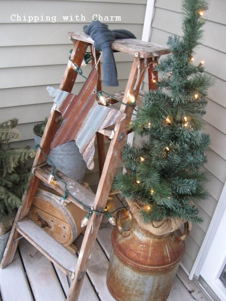 Perfect Milk Can Christmas Tree Stand