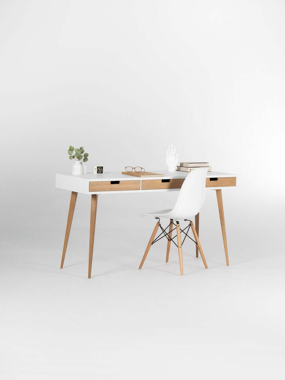 Retro and Whimsical White Desk