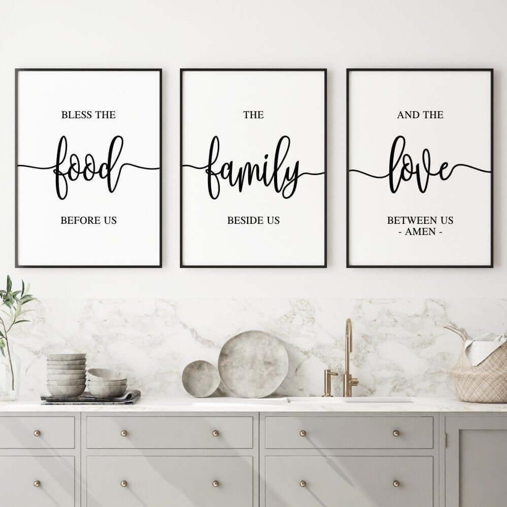 Food Family Love Trio Wall Art