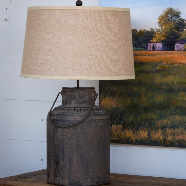 Beautiful Antique-Style Milk Can Lamp