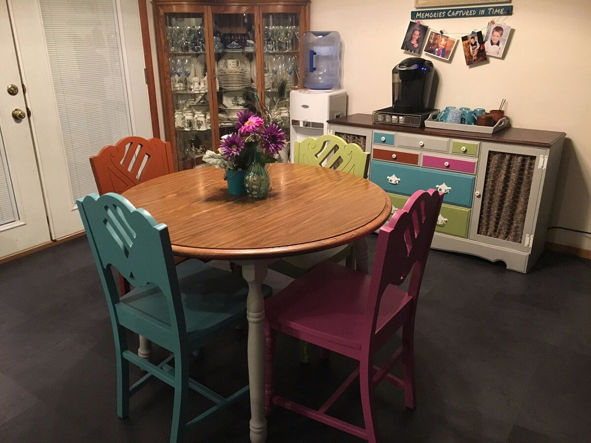 Cute and Quirky Painted Chairs for the Dining Room