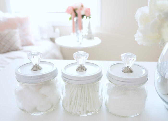 Fancy and Feminine DIY Cotton Containers
