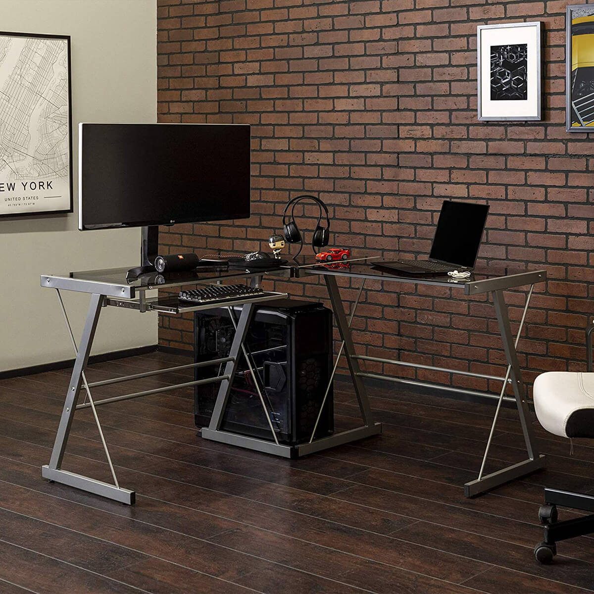Sleek Walker Edison Modern Corner Desk