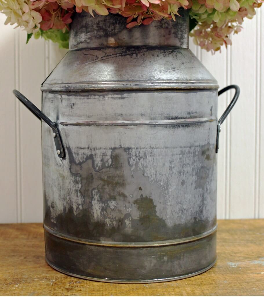 Wide-Bottomed Milk Can Bouquet Holder