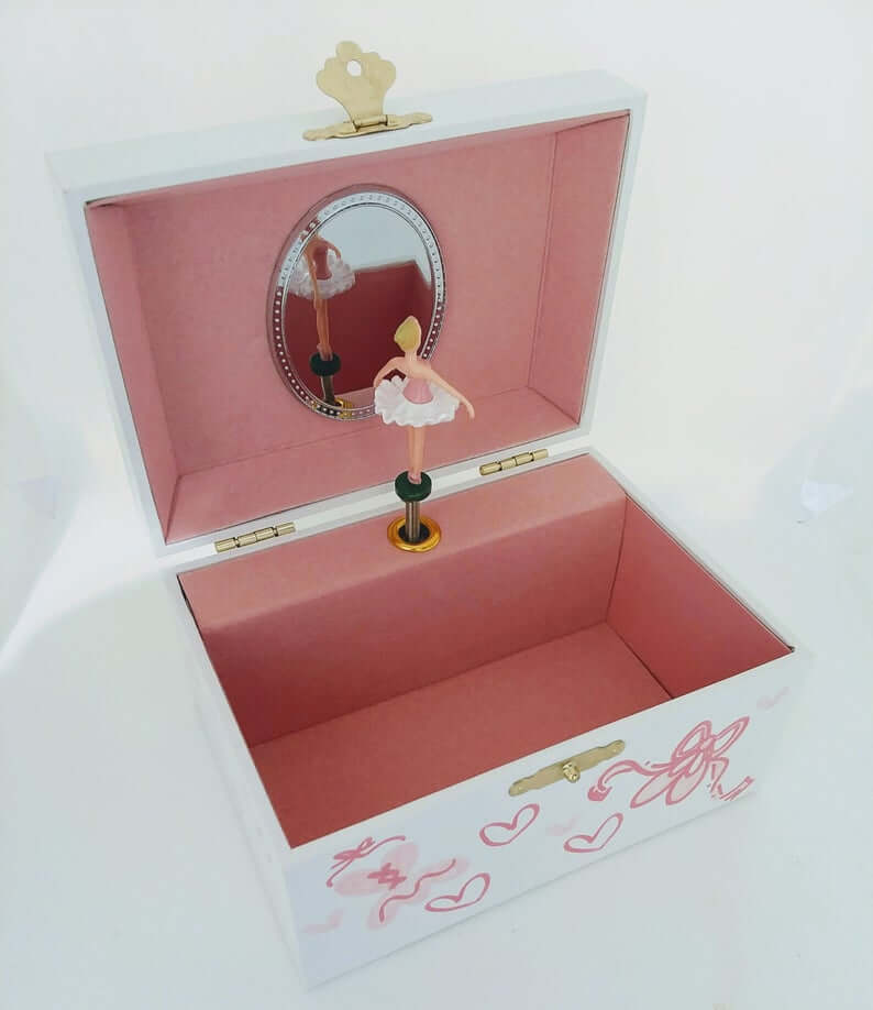 Personalized Musical Jewelry Box with Twirling Ballerina