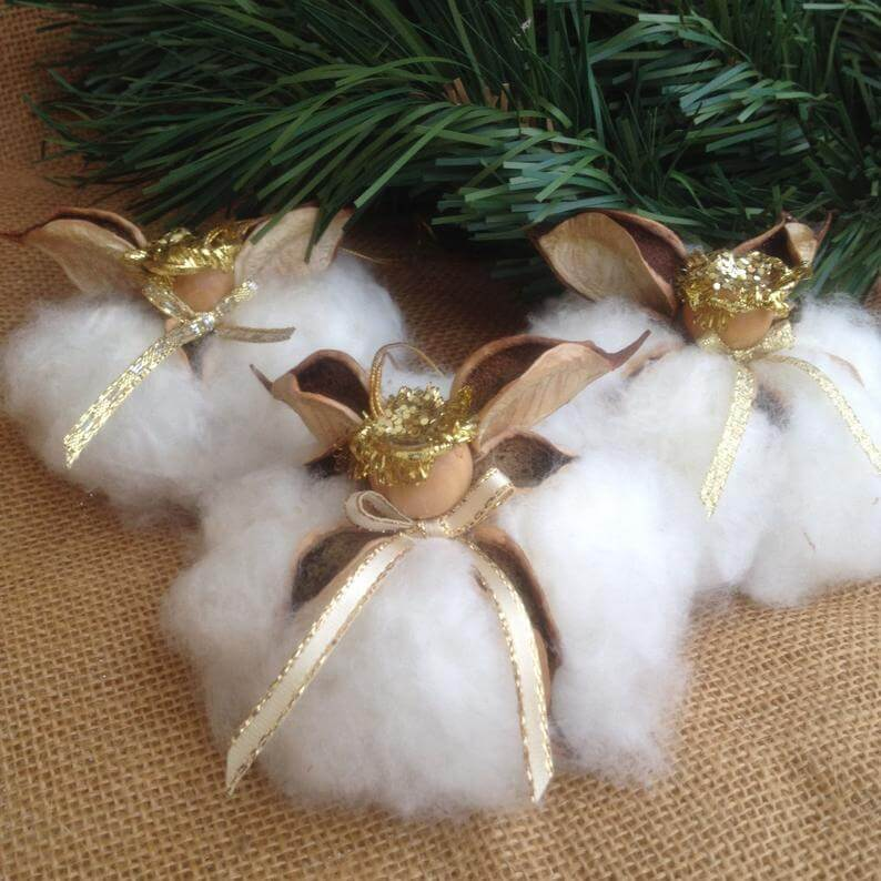 Sweet Little Holiday Cotton Cloud Angels