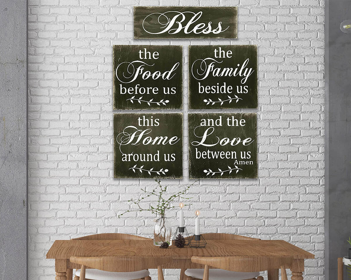 Dining Room Blessings (Five Sign Set)