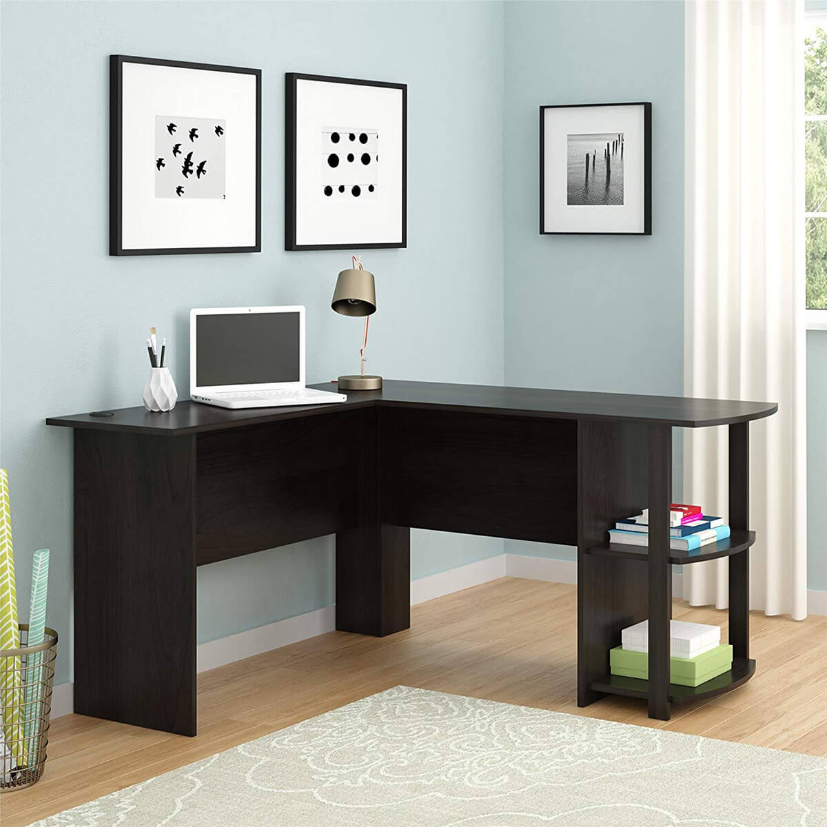 Sleek and Modern L-Shaped Desk