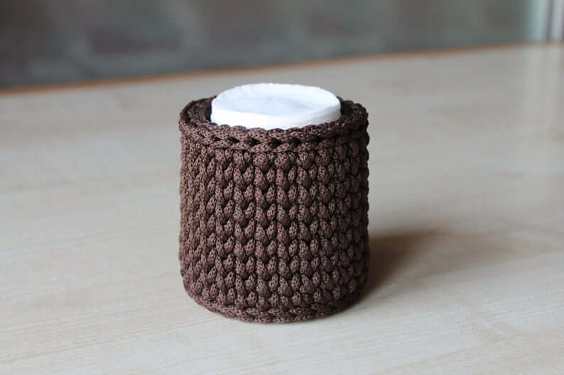 Best Crochet Bathroom Cotton Pad Holder