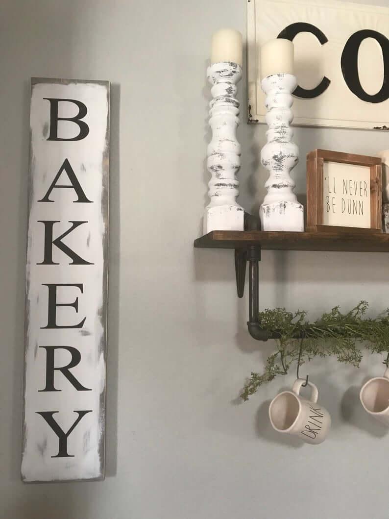 Farmhouse Style Vertical Bakery Sign