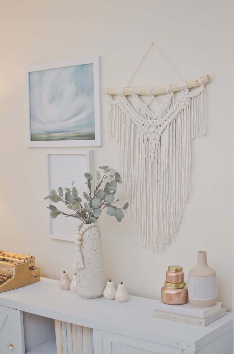 Macrame Wall Hanging and Gallery Wall