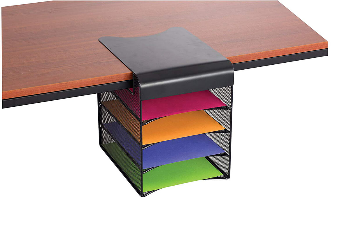 Flexible and Versatile 4-Tray Underdesk Organizer
