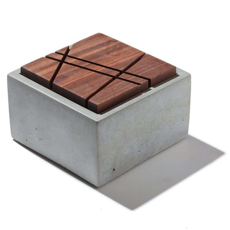 Concrete Box Jewelry Storage Ideas for the Minimalist