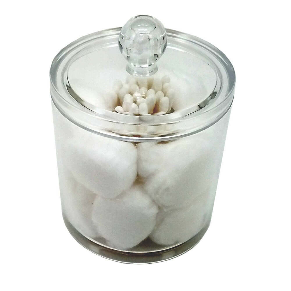 Two-in-One Cotton Ball and Swab Jar