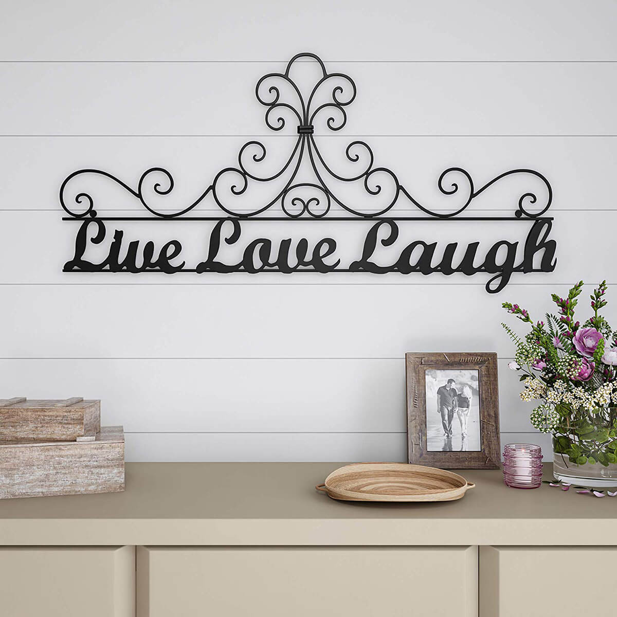 Live Love Laugh Metal Wall Hanging